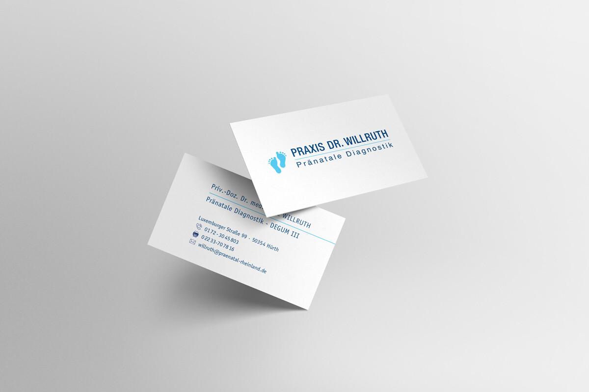 Praxis Dr. Willruth Visitenkarten