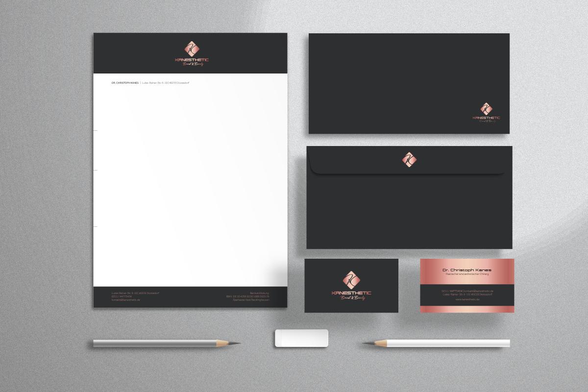Geschäftsausstattung und Printdesign | KANESTHETIC – Breast & Beauty