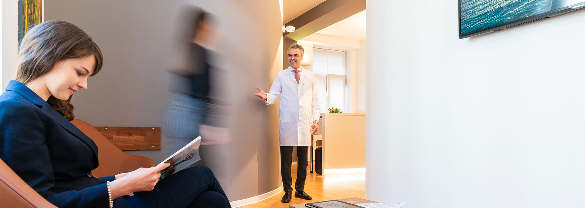 Wartezimmer eines Arztes