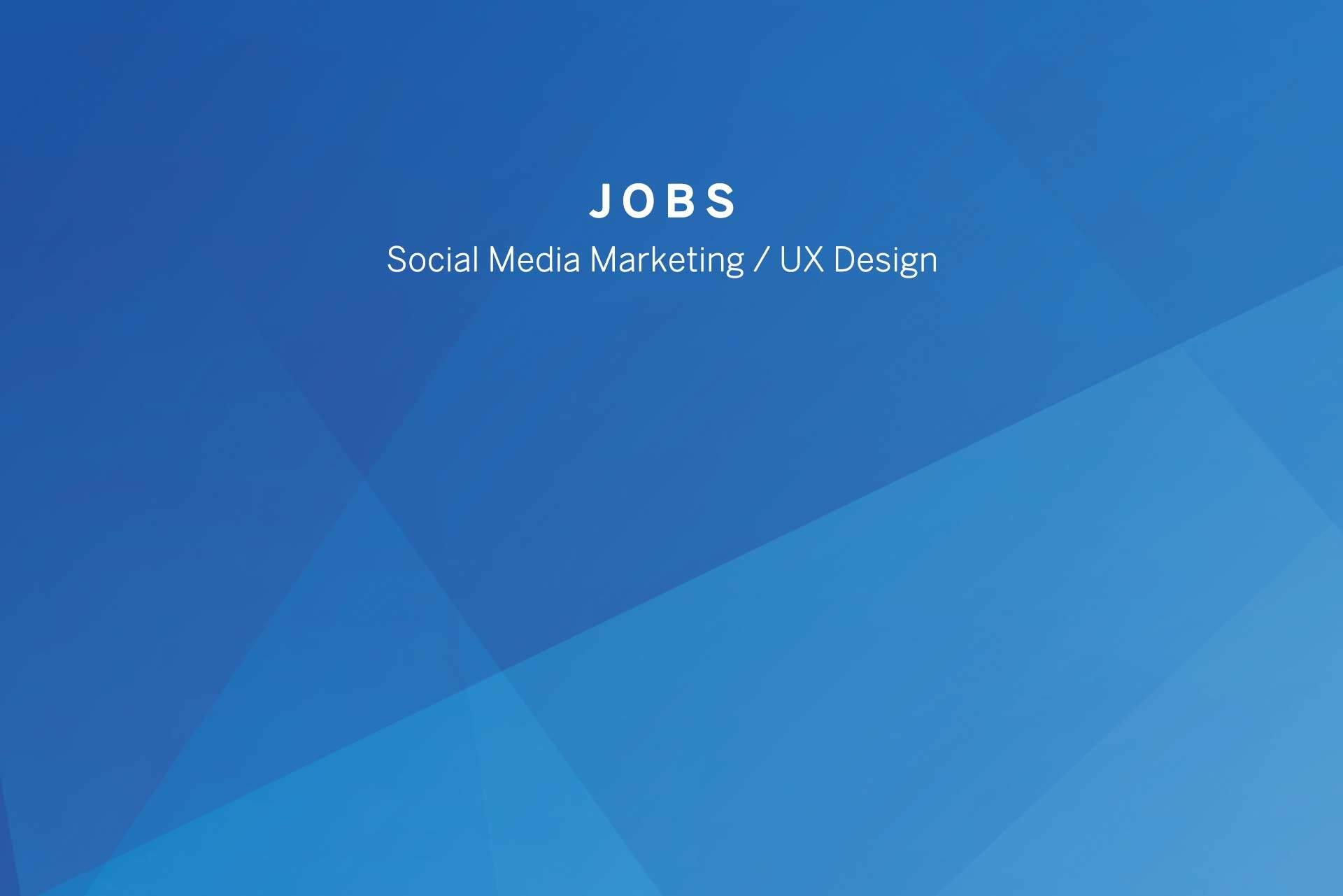 Wir stellen ein: UX Designer und Social Media Support