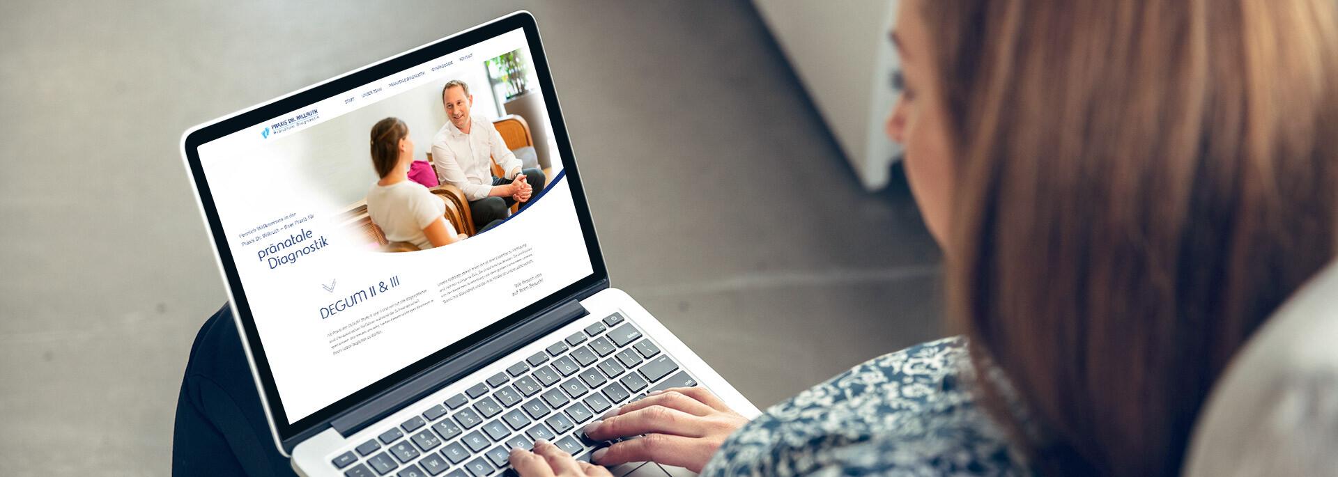Praxiswebsite mit KIMDESIGN